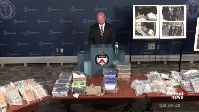 Cocaine, amphetamine, ecstasy seized in huge quantities in Toronto